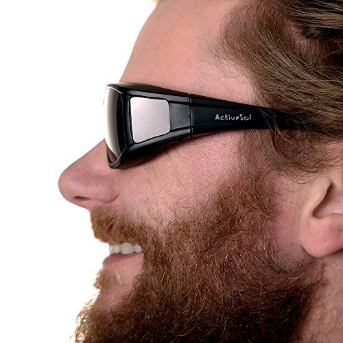 Noir pour Sur mat pour lunettes solaires homme lunettes Sur UV400 polarisantes porteurs polarisées solaires SOL lunettes lunettes de ACTIVE Sur qI5HwUyf7