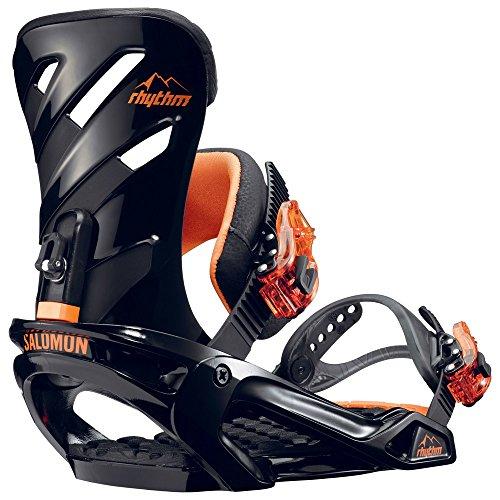 Salomon Snowboards Rhythm Snowboard Binding - Men's Black/Orange, L (Snowboard Bindings 3d)