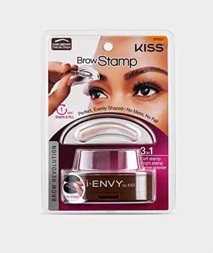 i-Envy by Kiss Brow Stamp for Perfect Eyebrow (KPBS01 - Dark Brown/Delicate Shape)