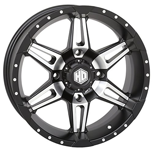 Amazon Com Sti Hd7 Utv Wheelsrims Matte Black 17 Polaris Rzr 1000