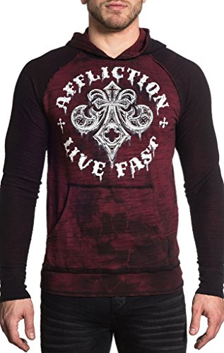 (Affliction Royale Rust Reversible Pullover XL)