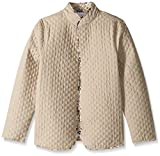 Napa Valley Women's Petite Size Solid Long Sleeve Reversible Quilted Jacket, Stonewall, 16P