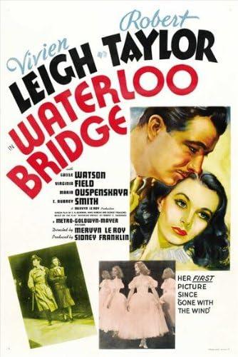 Amazon.com: Waterloo Bridge Movie Poster (27 x 40 Inches - 69cm x 102cm) ( 1940) Style B -(Vivien Leigh)(Robert Taylor)(Lucile Watson)(Sir C. Aubrey  Smith)(Maria Ouspenskaya)(Virginia Field): Prints: Posters & Prints