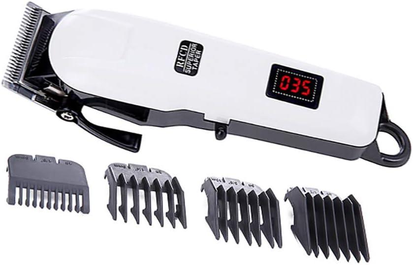 Tijeras para Cortar el Pelo, Máquina de Cortador de Cabello eléctrico inalámbrico Profesional Kit USB Recortador de Pelo inalámbrico Set con 4 peines de guía
