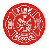 Fire / Rescue Hard Hat Decal / Helmet Sticker Firefighter Squad Emergency