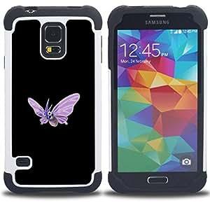 - Venomoth P0Kemon/ H???¡¯????brido 3in1 Deluxe Impreso duro Soft Alto Impacto caja de la armadura Defender - SHIMIN CAO - For Samsung Galaxy S5 I9600 G9009 G9008V