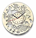 7ArtsStudio Alice in Wonderland Wall Clock Made of Wood – Perfect and Beautifully Cut – Decorate Your Home with Modern Art – Unique Gift for Him or Her – Size 12 Inches Review