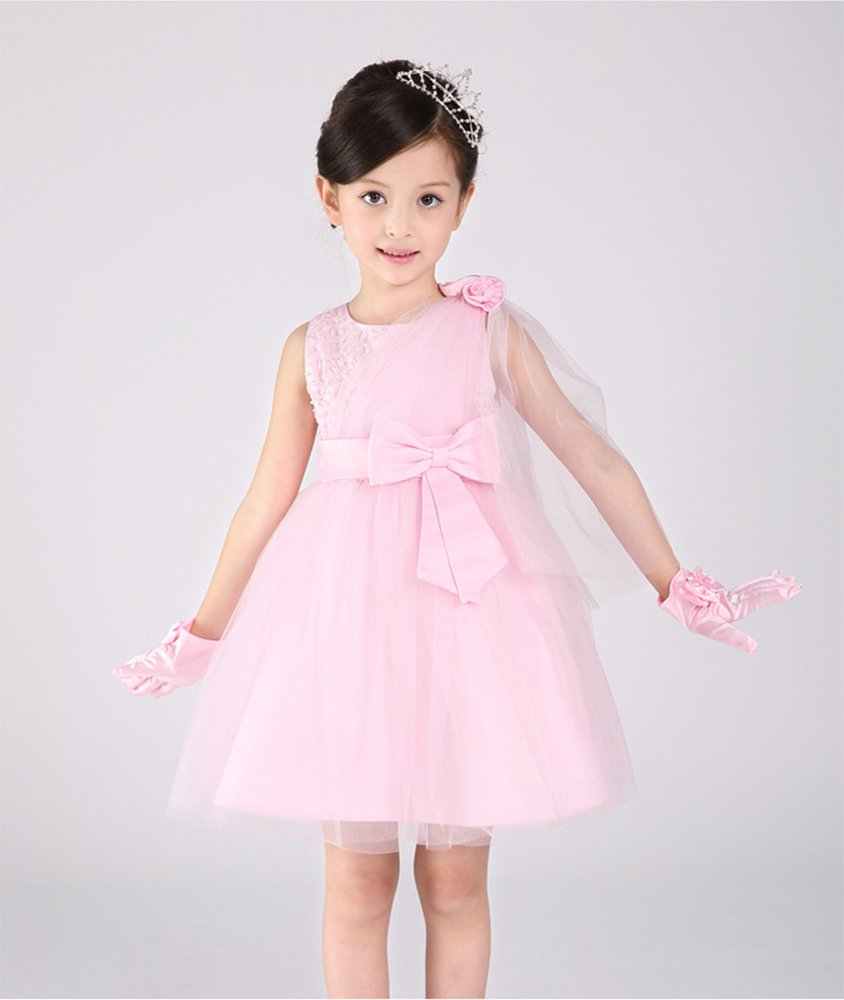 LiBridal - Vestido Rosado de princesa sin niñas, cumpleaños mangas ...