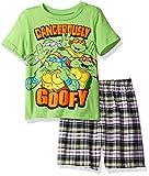 Nickelodeon Toddler Boys' Teenage Mutant Ninja Turtle Tee and Plaid Short Set, Green, 3T