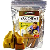 Vet Recommended NEW Yak Chew - (5 Count/1.7LB) Himalayan Dog Chew - The 100% Natural Healthy Dog Chew - Extreme Long Lasting Cheese Chew Made From Himalayan Yak Milk.