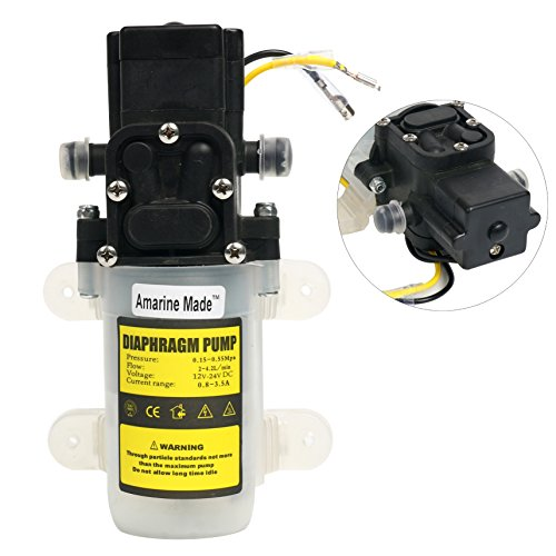 Amarine-made Automatic High Pressure Diaphragm Water Pump DC 12V 3.6L/min for General - Sprayer Agricultural