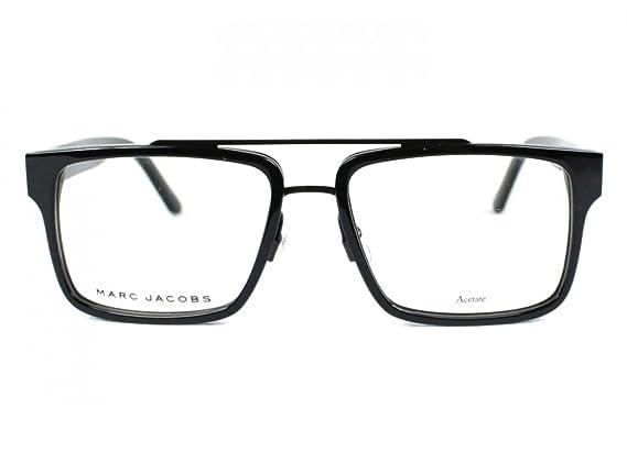 b96a6990937 Amazon.com  Marc Jacobs Marc 58 02QP Black Eyeglasses  Clothing