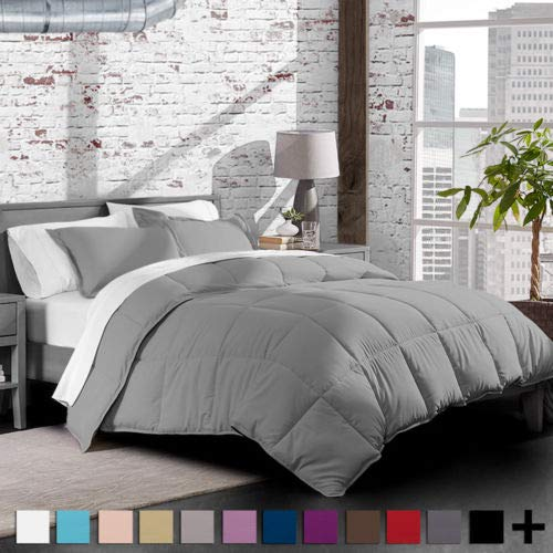 unbrand Full/Queen Premium 1800 Series Goose Down Alternative Hypoallergenic Comforter Set Color Light Grey from unbrand