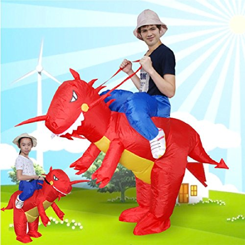 Good Horse And Rider Halloween Costumes (Fan Operated Adult Kids Size Halloween Animal Costumes Dino Rider T-Rex)