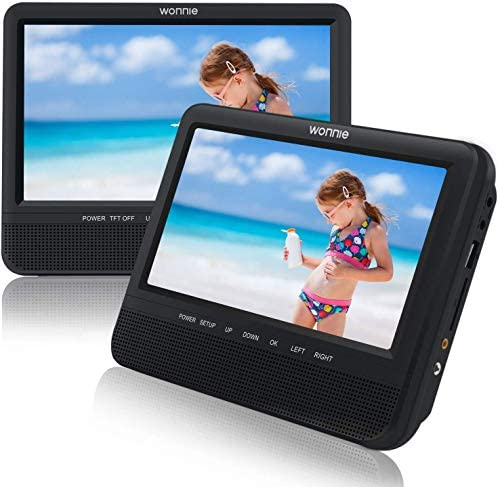 WONNIE 7.5'' Dual Screen DVD Player Port