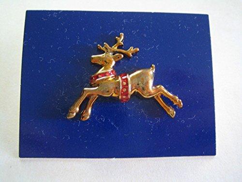 Gold Tone Reindeer (Avon Festive Reindeer Pin Goldtone 1987)