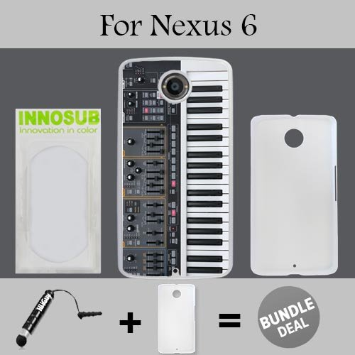 Synthesizer Custom Nexus 6 Cases-White-Plastic,Bundle 2in1 Comes with Custom Case/Universal Stylus Pen by ()