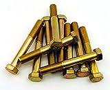 (10) Hex Head Bolts 5/8-18 x 4-1/2 Grade 8 Fine Yellow Zinc USA Made