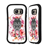 Official Monika Strigel Wolf Animals And Flowers Hybrid Case for Samsung Galaxy S7