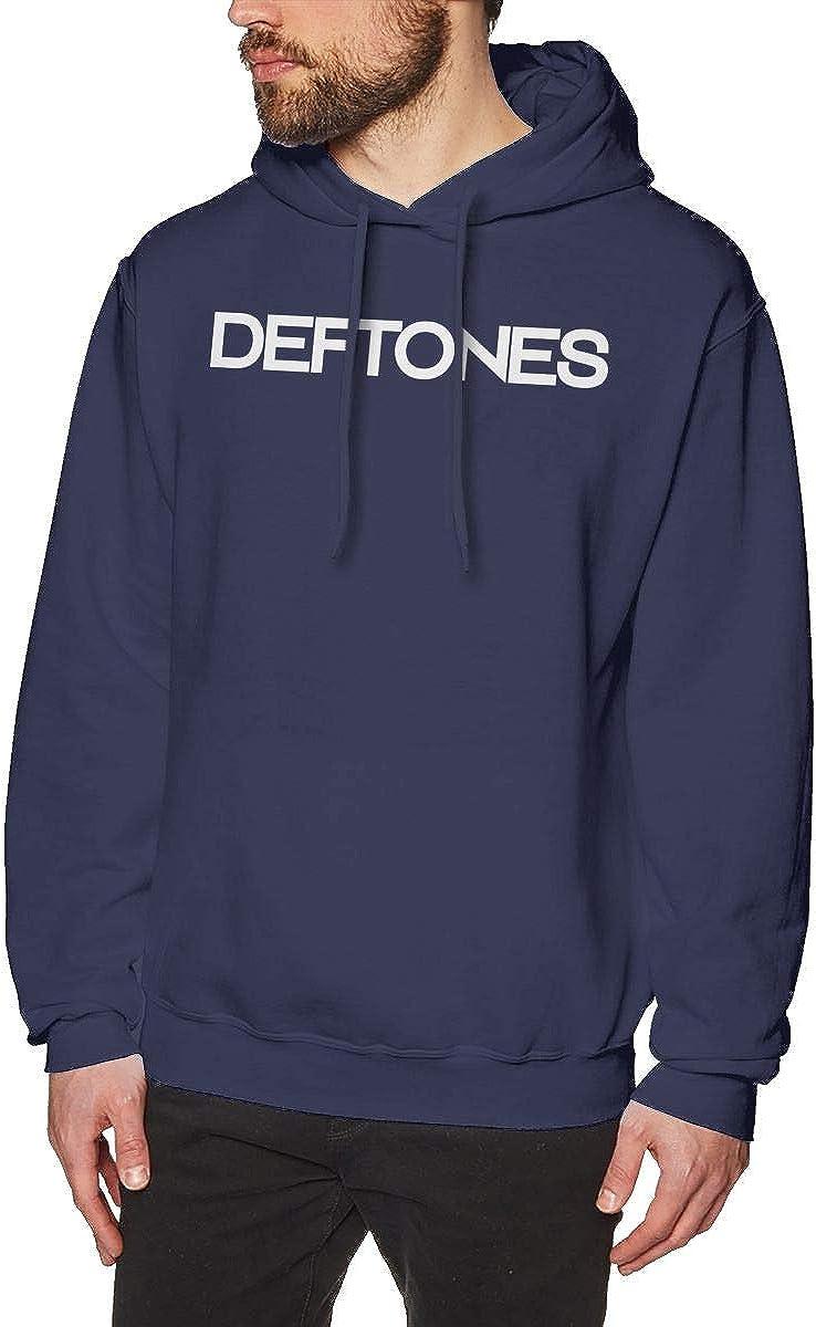 Deftones Logo Hoodie for Mens Long Sleeve Fashion Hooded Sweatshirts Pullover Tops Black