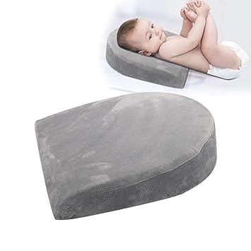 SeSDY Almohada Espuma de Memoria Almohada para bebé Rebote Lento Lucha contra la escupir Leche Almohadilla Triángulo Pendiente Mujeres Embarazadas: ...