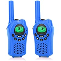 Walkie Talkies for Kids,DDSKY FRS/GMRS Handheld Mini Walkie Talkies 22 Channel Walkie Talkies 2 Way Radio 5 Miles-A Pair (Blue)