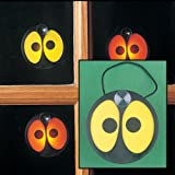 FE-OTC Halloween Spooky Eyes Window Decoration Glowing Battery Operated