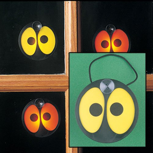 FE-OTC Halloween Spooky Eyes Window Decoration Glowing Battery Operated