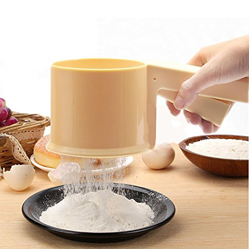 Food Strainers, Cocal New Plastic Flour Sifter Sieve Filter Baking Icing Sugar Powder Strainer