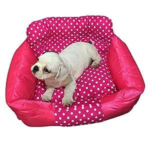 Cama para perros Pet colchón tipo cálido, rosa