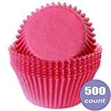 Birthday Direct Cupcake Muffin Liner Baking Cups Bulk - 500 Count Wedding, Party, Shower, Crafts, Bakery (Magenta Pink)