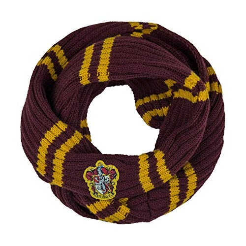 Harry Potter Scarf - Infinity - Official - Ultra Soft Knitted Fabric (Gryffindor)]()