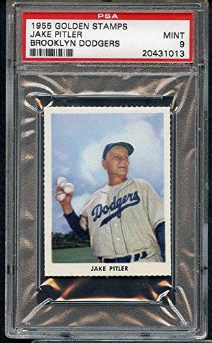 1955 Golden Stamps Jake Pitler Dodgers PSA 9 MINT 307356 Kit Young Cards 1955 Golden Stamp