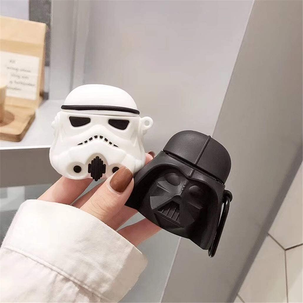 Silicone Airpod Stylish Chic Character Skin Keychain Cover,Girls Boys Teens Men,Cases for Air pods 1/& 2 Joyleop Black Man Compatible with Airpods 1//2 Case Cover,3D Cute Cartoon Funny Fun