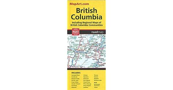 Amazon.com: British Columbia, Road Map (9781553686811 ...