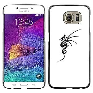 LECELL--Funda protectora / Cubierta / Piel For Samsung Galaxy S6 SM-G920 -- Black White Tattoo Ink Art --