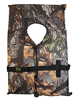 Type II Camo Hunting Life Jacket Vest PFD - Adult Universal - Coast Guard Approved