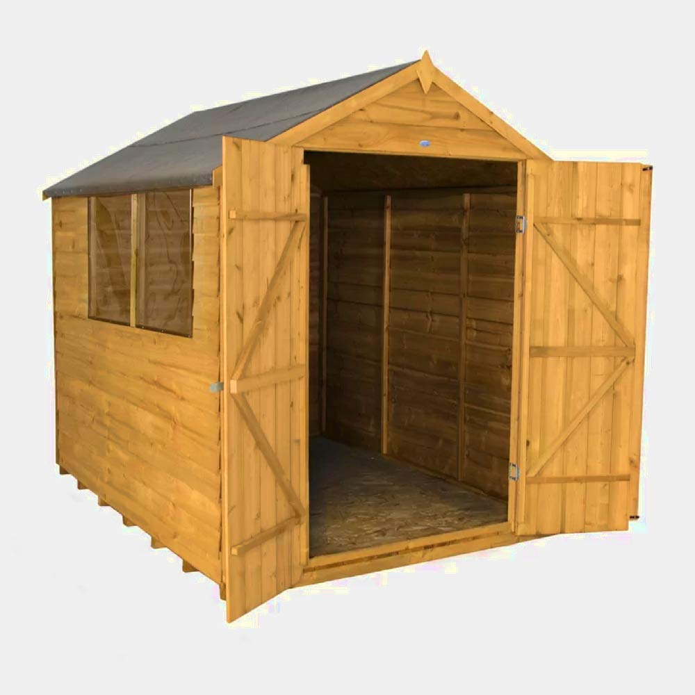 XFACTOR DEAL LIMITED Caja de almacenamiento de madera para cobertizo de bicicleta, jardín, cobertizo grande, caja de almacenamiento para exterior con ...