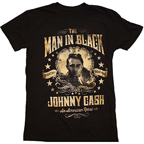 Mens-Johnny-Cash-Portrait-T-Shirt-Black