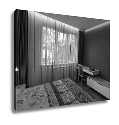 Ashley Canvas Bedroom In Fresh Renovated Apartment, Kitchen Bedroom Living Room Art, Black/White 24x30, AG5914585 - Edge Premium Headboard Frame