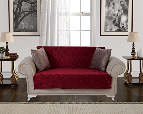 Anti-Slip Armless Pet Dog Sofa Cover Couch Covers Sectional Slipcover / Non-Slip Arm-chair Recliner Chair Furniture Protector Futon Shield 1 2 3 Seater T Cushion L Shaped Leather (Love-Seat/Burgundy) - Leather Sectional Sofa Couch