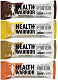 HEALTH WARRIOR Superfood Protein Bars, Sampler Pack, 4 Flavors, 50g bars, 12 count