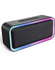 Kunodi Portable Bluetooth Speaker, IPX5 Waterproof Bluetooth Speaker with RGB Lights, Wireless Speaker with 18H Playtime & Hi-Fi Loud Stereo Sound