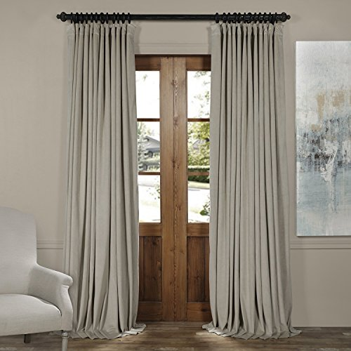- VPCH-VET160405-120 Signature Doublewide Blackout Velvet Curtain,Cool Beige,100 X 120