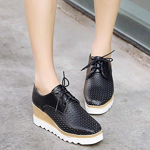 Coolcept Zapatos de Tacon Cuna con Tobillera para Mujer Black
