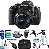 Canon EOS Rebel T6i DSLR Camera with EF-S 18-55mm f/3.5-5.6 IS STM Lens [International Version] (Pro Bundle, 18-55mm Lens)