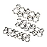 VGEBY Solid Stainless Steel Fishing Figure 8 Rings Assist Hook Pack of 60Pcs