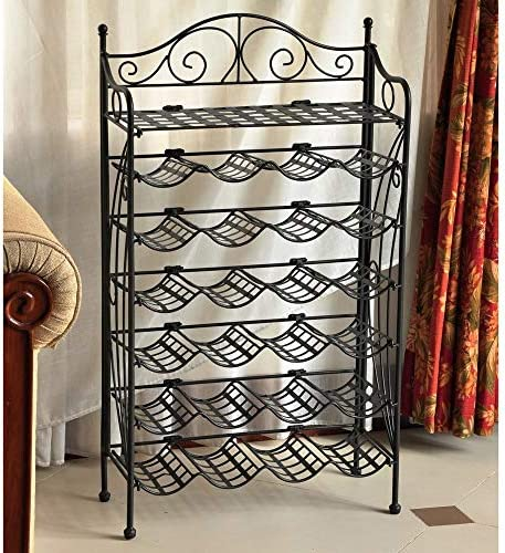 Iron 24-Bottle Indoor/Outdoor Folding Wine Rack