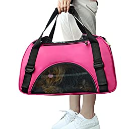 All Cart Pet Carrier Airline Approved Travel Tote Bag Pets Handbag - Medium