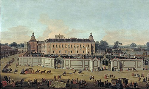 Oil Painting 'Battaglioli Francesco View Of Aranjuez Palace 1756 ' Printing On Perfect Effect Canvas , 8 X 13 Inch / 20 X 34 Cm ,the Best Bedroom Artwork And Home Decoration And Gifts Is This Best Price Art Decorative Canvas Prints (Knife Party Halloween Intro)